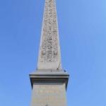 La Plaza de la Concordia y el Obelisco de Luxor