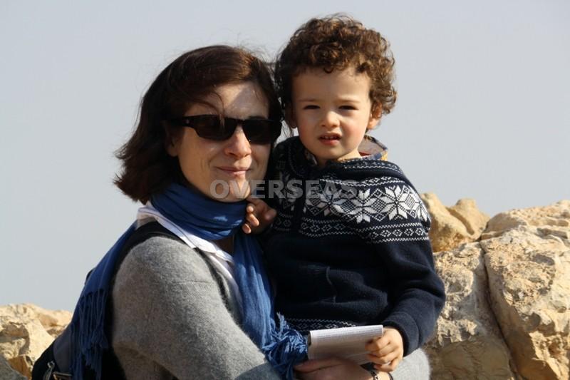 10. con mi hijo en Masada Israel