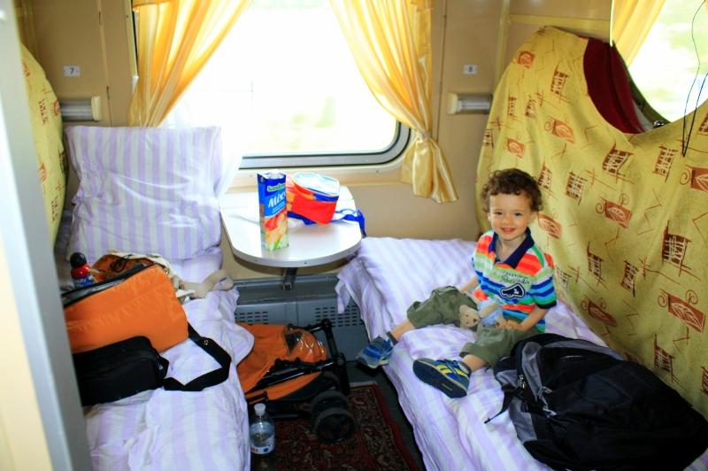 9. viajando en tren por Ucrania