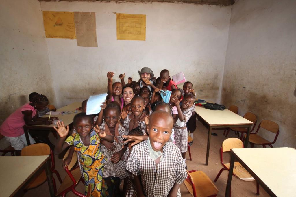 Con los ninos en Gambia