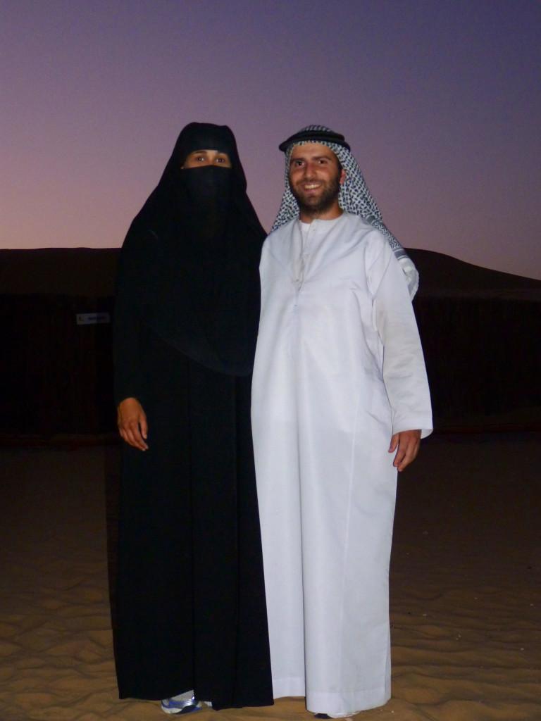 Fer y Vero en Abu Dabi